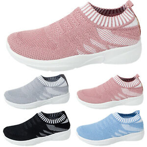 Women-Breathable-Trainer-Sports-Running-Sneakers-Pumps-Mesh-Ladies-Slip-On-Shoes
