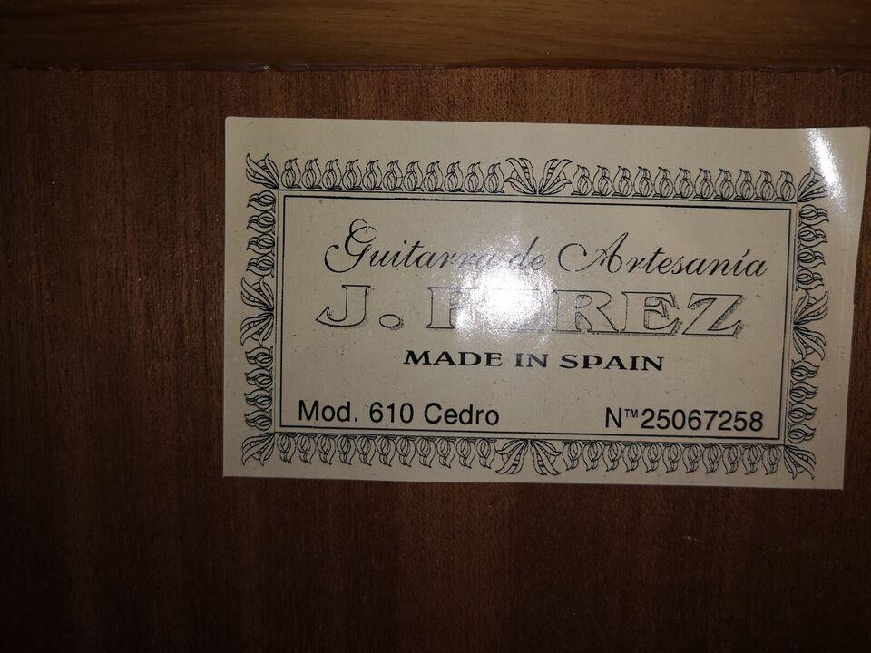 Spansk, andet mærke J Perez cedro 610