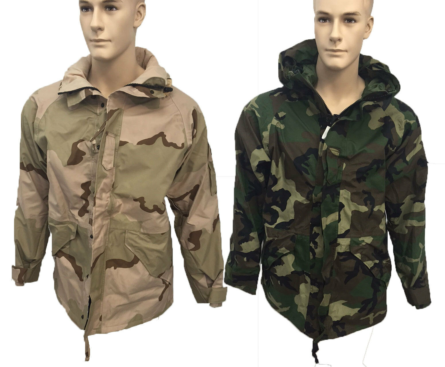 Mens Med & Lrg Military  Camouflage Cold Wet Weather Gore-Tex Parka  Army Hunting  buy cheap new