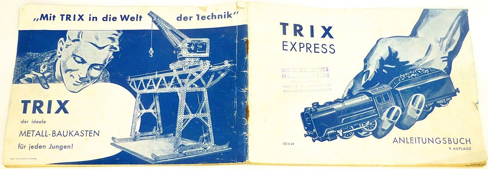 Trix express anleitungsbuch 9te auflage 132 8 49 H0 1 87 å