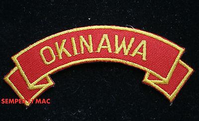 OKINAWA JAPAN COLLECTOR TAB PATCH USMC US MARINES VETERAN HERO USS FMF MAW WOW