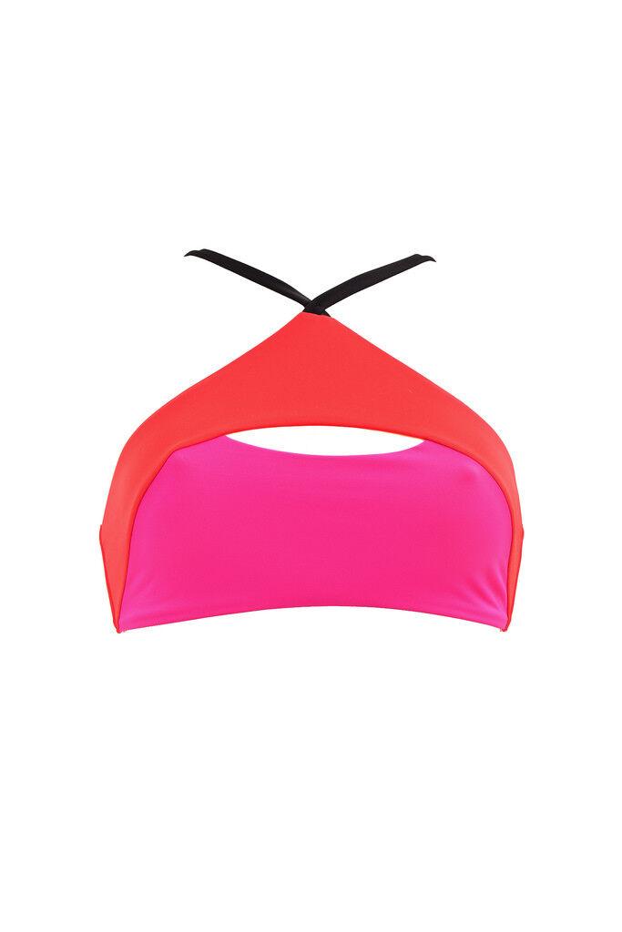 L'Agent by Agent Provocateur Women's New Soft Bikini Bra Multi M RRP  BCF87