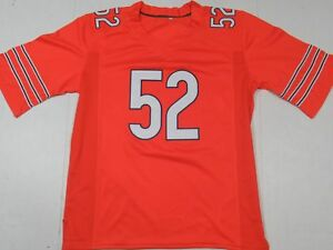 8f9dedfbe Khalil Mack #52 Chicago Bears Unsigned Custom All-Sewn Jersey Orange ...