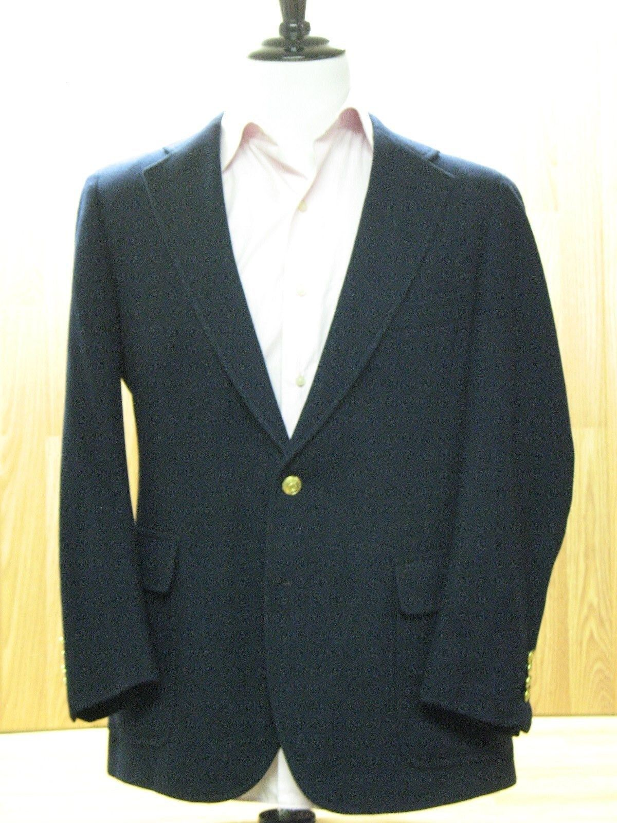 Nordstrom, Chaps by Ralph Lauren, Blau Virgin Wool Blazer with Gold Buttons