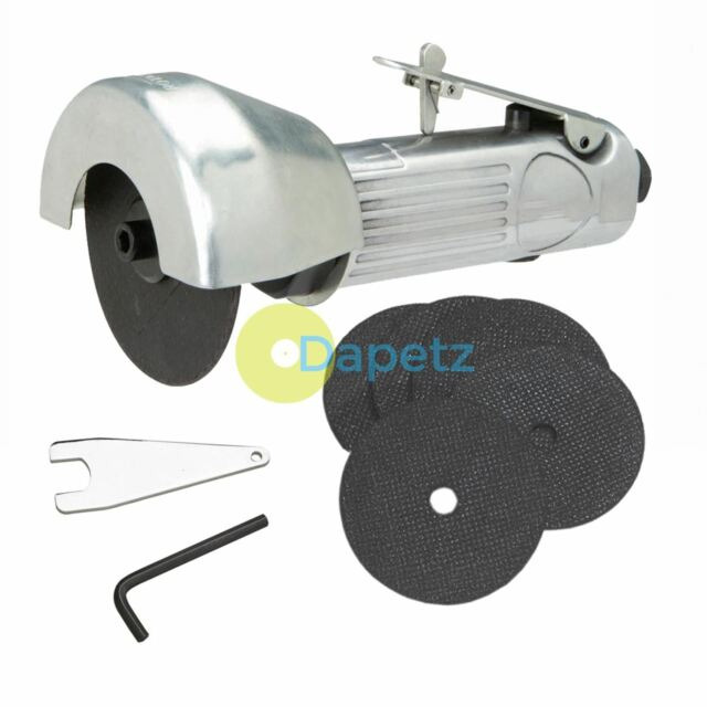 """75mm 3"""" Inch Air Cut Off Tool Grinder Cutter Safety Trigger 6 Discs 3y guarantee"""