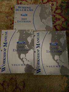 2005 FORD TRUCK Excursion Service Shop Repair Manual Set ...