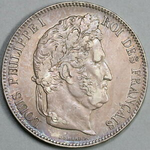 1832-T-France-5-Francs-Louis-Philippe-I-Silver-Nantes-Mint-Coin-19081010R