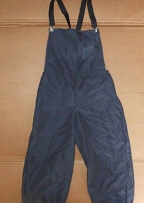 NWOT HIp Hop Costume Dance Suspendars Overalls Medium Child Charcoal Gray