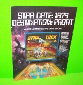 Bally-STAR-TREK-Original-1979-Pinball-Machine-Flyer-Spock-Kirk-William-Shatner
