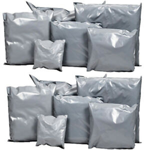 Strong-Grey-Plastic-Mailing-Postal-Bags-Poly-Postage-Self-Seal-Full-Range