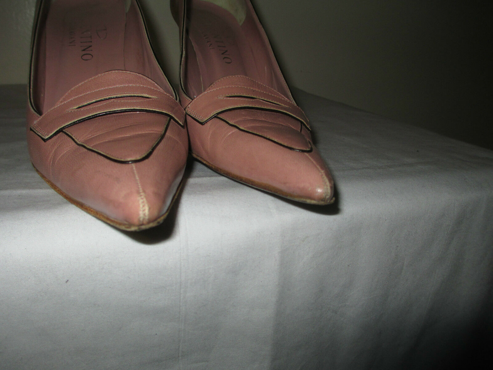 Valentino GARAVANI Point-Toe Nude Leather Heel schuhe schuhe schuhe 38.5 4cf7f7
