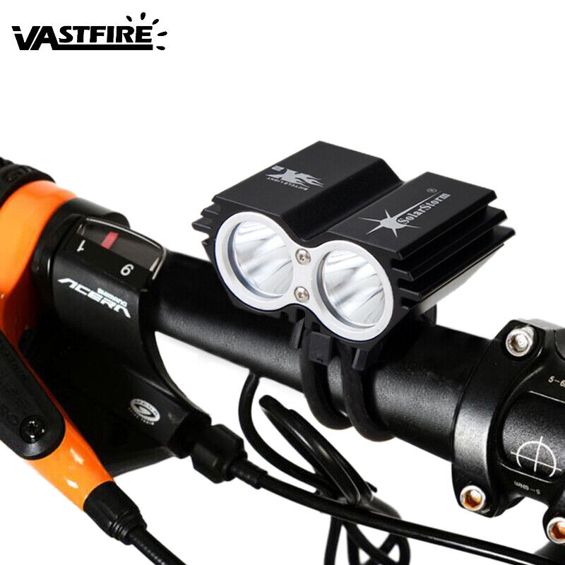 8000LM Bright Double XM-L T6  LED Bike Lamp Bicycle Light Headlight Headlamp K