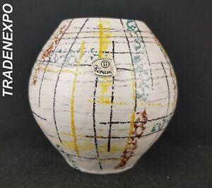 Vintage-60-039-70s-U-KERAMIK-UBELACKER-Beige-Vase-West-German-Pottery-Fat-Lava