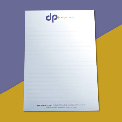 Personalised Note Pads A6 or A5 Full Colour Litho Printed