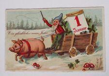 """""""Neujahr, Schwein, Zwerge, Wagen, Kalender, Kleeblatt, Pilz"""" 1934 ♥ (36945)"""