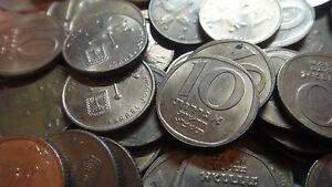 5741 COINS LOW PRICE! DEALER LOT OF 100 ISRAEL 10 NEW AGORA AGOROT 1981