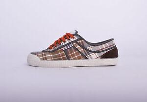 Kawasaki scarpe BOS05 sneakers canvas tela quadri multicolor suola bianca 7hIjtLj