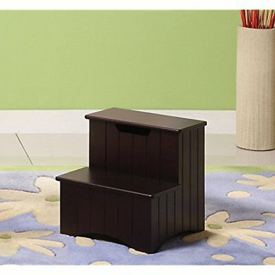 Fabulous Kings Brand Dark Cherry Finish Wood Bedroom Step Stool With Storage Free 21644235245 Ebay Gamerscity Chair Design For Home Gamerscityorg