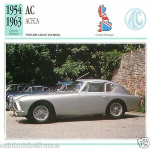 AC-ACECA-1954-1963-CAR-VOITURE-Great-Britain-GRANDE-BRETAGNE-CARD-FICHE