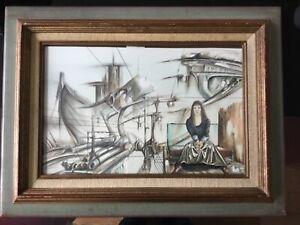 Tableau Artiste Peintre Dominique Canar Surrealisme Fantasmagorique 30cm X 44cm Ebay