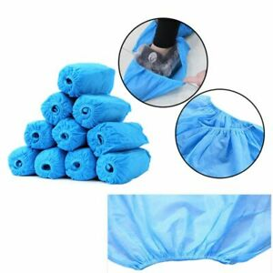 100Pcs-Disposable-Shoe-Covers-Non-woven-Protection-Overshoes-Dustproof