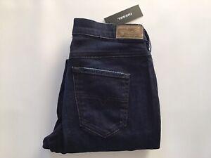 Diesel Women's Belthy Regular Slim Straight Jeans 0677J Indigo Blue Size 25