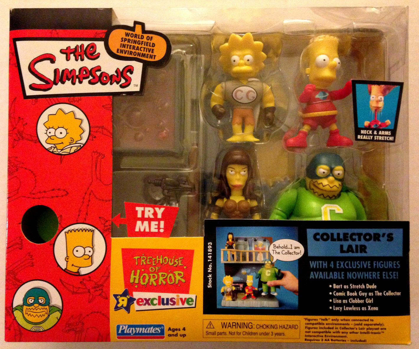 TOYS R US EXCLUSIVE THE SIMPSONS SIMPSONS SIMPSONS TREEHOUSE OF HORROR COLLECTOR'S LAIR FIGURE SET b045bb