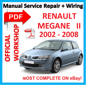 official workshop manual service repair for renault megane 2 2002 rh ebay com renault megane 2 1.9 dci service manual renault megane 2 1.9 dci service manual