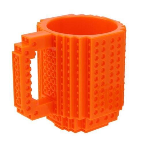 Coffee Mug Build Blocks Lego Tea Cup DIY Puzzle Drink 350 ml Kids Friend Gift