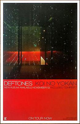 DEFTONES Koi No Yokan Ltd Ed Discontinued RARE Poster +FREE Sticker & Poster!