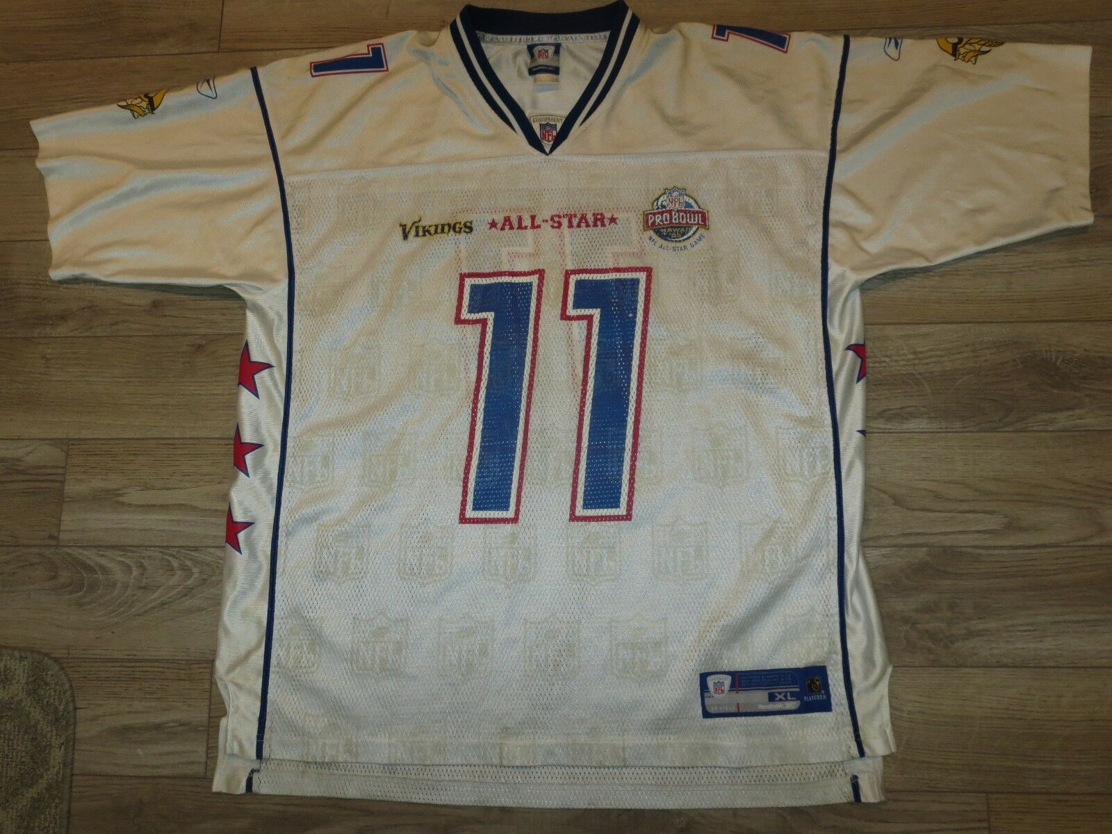 Dante Culpepper Minnesota Vikings NFL pro Bol Reebok Camiseta XL