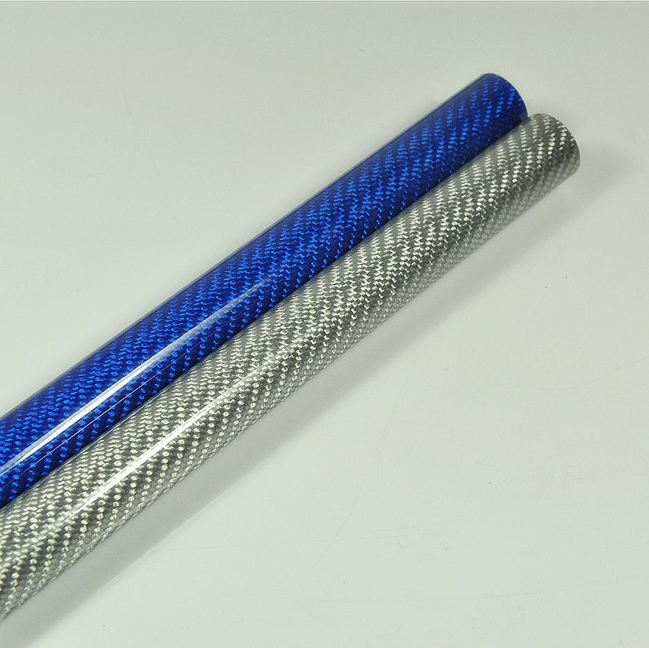 2 × 6 8 10 10 10 12 14 16 18 20 22 23 24 26 28 30 32 mm 3K tubo in fibra di autobonio lunghi 1000 mm bf3a85