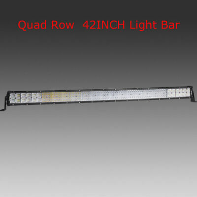 """Autofeel 42/"""" Inch 5152W Curved CREE LED Work Light Bar Combo Offroad Car Truck"""