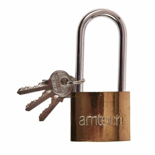 Amtech Heavy Duty 50mm Security Padlock Lock Garage Door Shed Outdoor+3 Keys