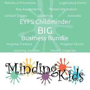 Eyfs Childminder Big Business Bundle Policies Logbooks Learning