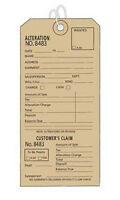 """Pack Of 500 Retails Off-white/ecru Alteration Tags 3""""w X 6""""l"""