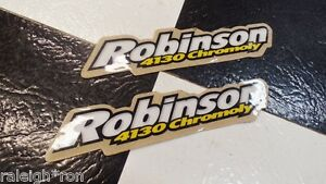 2-NOS-Robinson-4130-Chromoly-Decal-STICKER-SET-for-Old-School-BMX-Bike-Bicycle