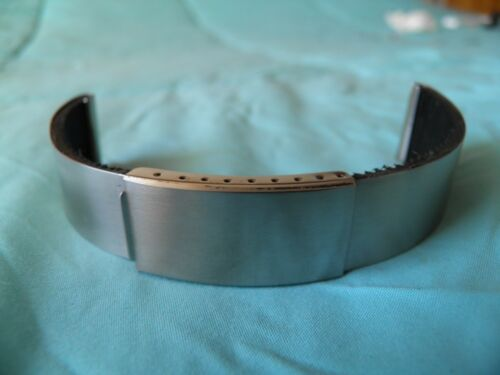 BRACELET 19 MM or 20 MM STAINLESS STEEL AND GUM ON LOOP FOLDING