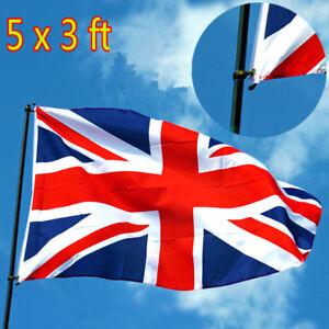 5-x-3FT-Large-Union-Jack-Flag-Great-Britain-Fabric-Polyester-British-GB-Sport-k