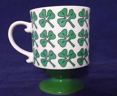Irish Coffee Cup, Mug with Shamrocks Holt Howard Pedestal Footed Vintage