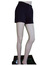 Gianfranco FERRE Womens Hippy Boho Wool Black High Waist Hot Pants sz 10 AN60