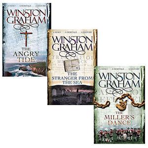 Winston Graham Poldark 3 Books Set Ross Poldark, Demelza, Jeremy Poldark NEW