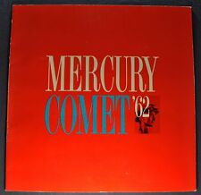 1962 Mercury Comet Large Catalog Sales Brochure Excellent Original 62