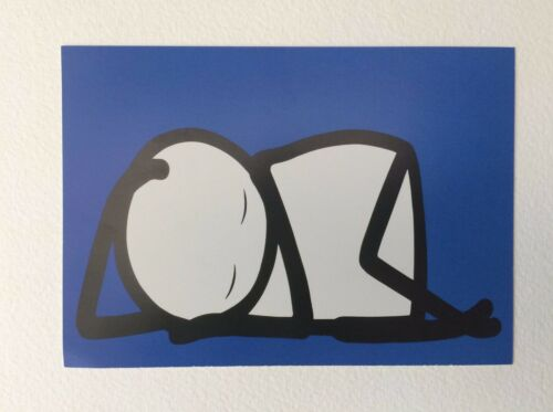 STIK Sleeping Baby Postcard Promotional Not Signed Mint condition