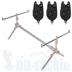 Deluxe-Alu-Karpfen-Rod-Pod-Gewicht-1-kg-Bissanzeiger-Rutenauflagen-Rutenhalter