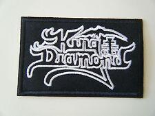 KING DIAMOND PATCH Embroidered Iron On Sew On Heavy Thrash Speed Black Metal NEW