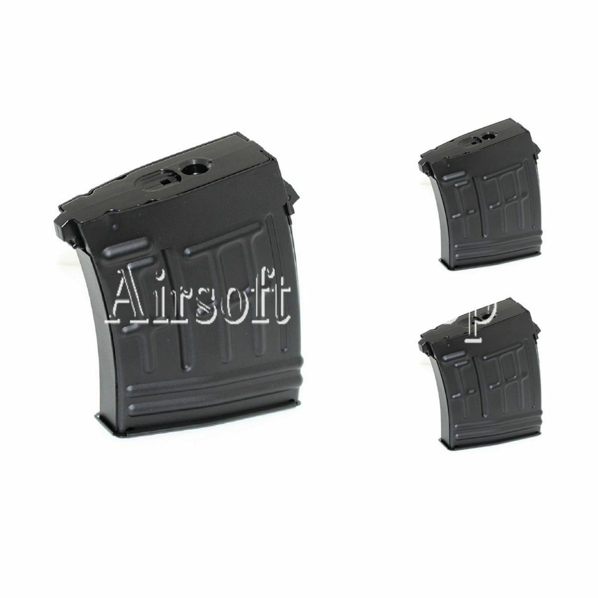 Airsoft CYMA 3pcs 80rd Metal Mag Mid-Cap Magazine For RS CYMA SVD Sniper