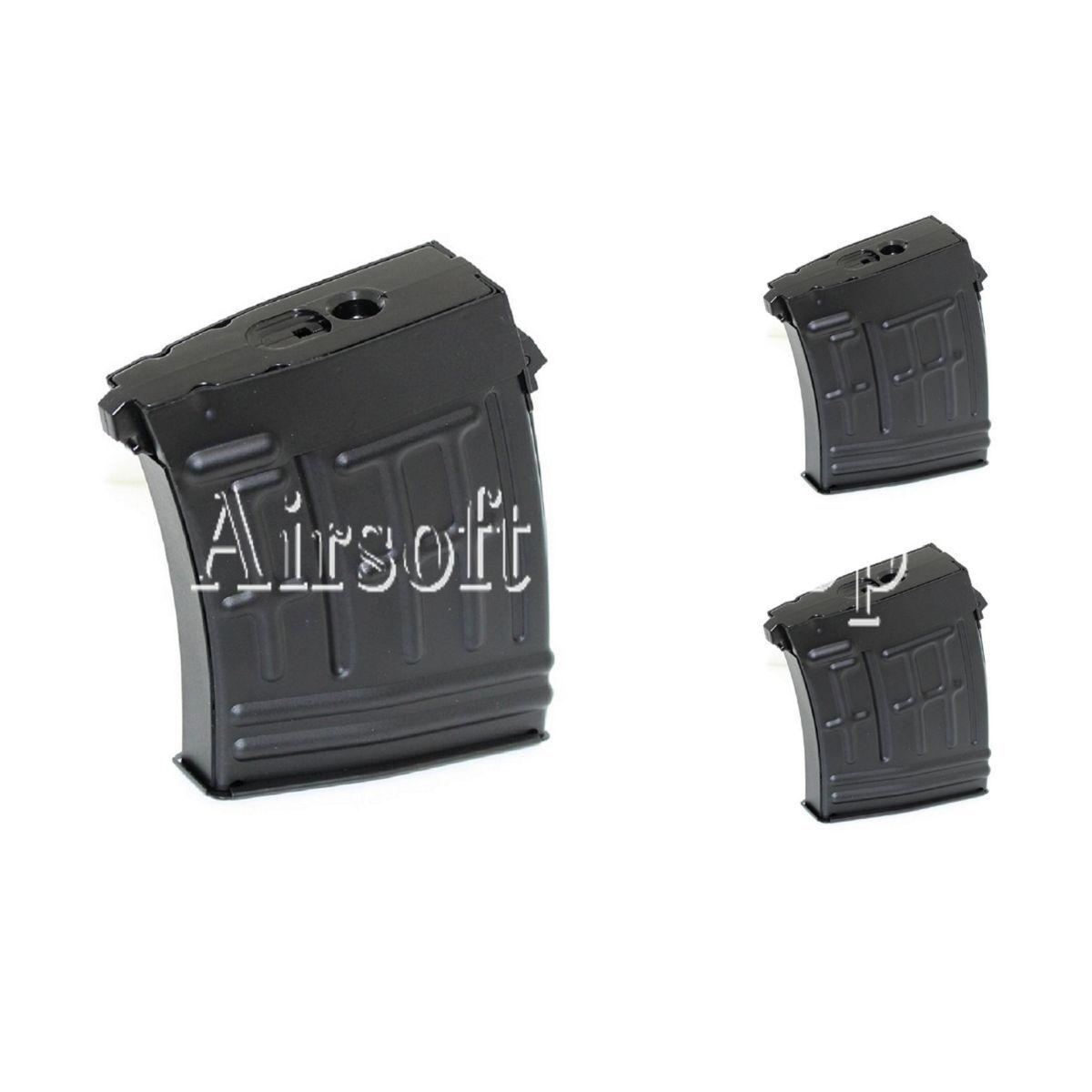 Airsoft CYMA 3pcs 3pcs 3pcs 80rd Metal Mag Mid-Cap Magazine For RS CYMA SVD Sniper 21ca18