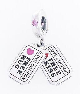 Details about Authentic PANDORA 2020 Valentine's Day Love Hug Kiss Pendant  Charm 798703C01