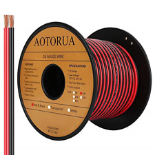 Aotorua 100ft 162 Gauge Red Black Cable Hookup Electrical Wire 16awg 2 2 Color